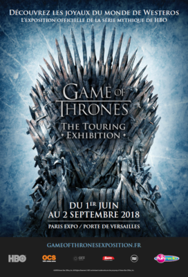 "Affiche de l'exposition ""Game of Thrones - The Touring Exhibition"" (crédits : www.gameofthronesexposition.fr)"
