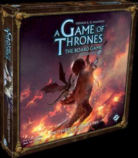 """Visuel de la boite d'extension du jeu de plateau : """"Mother of Dragons"""" (Crédits : FFG)"""