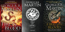 Couvertures américaine, française et anglaise de Fire and Blood / Feu et Sang