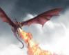 La princesse Rhaenys sur son dragon Meleys, pendant le siège de Repos-des-Freux (crédits : Jordi Gonzales Escamilla, The Wolrd of Ice and Fire)