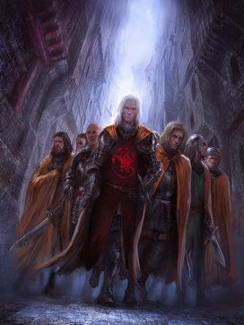 Le Prince Daemon et les Manteaux d'Or (Crédit: Marc Simonetti ; TWOIAF)