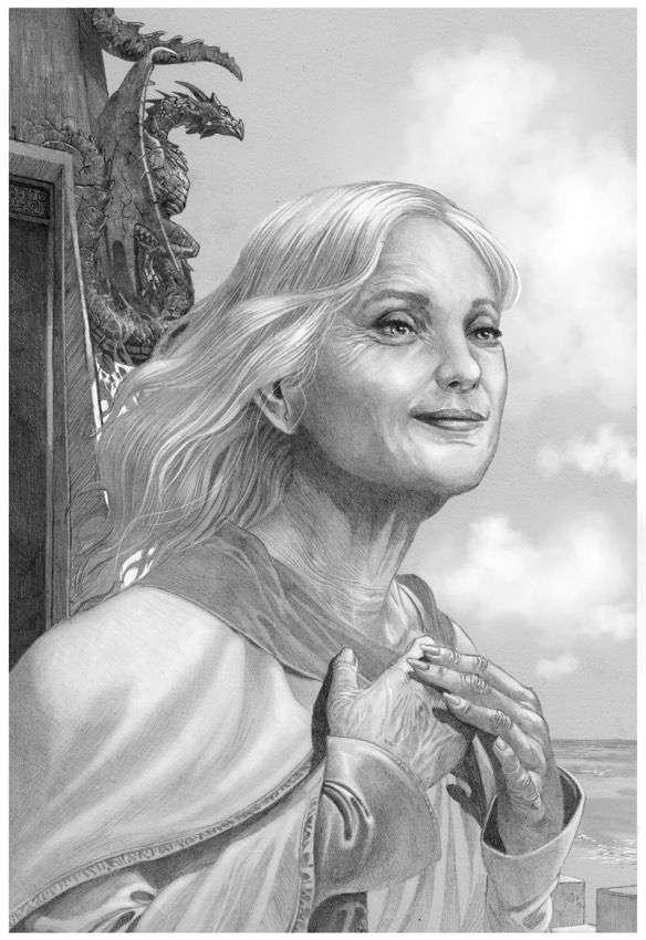 La reine Alysanne Targaryen à l'âge de 64 ans (crédits : Doug Wheatley, Fire and Blood)