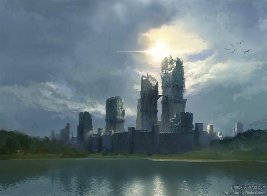Le château d'Harrenhal (crédits :  Lino Drieghe, Fantasy Flight Games)