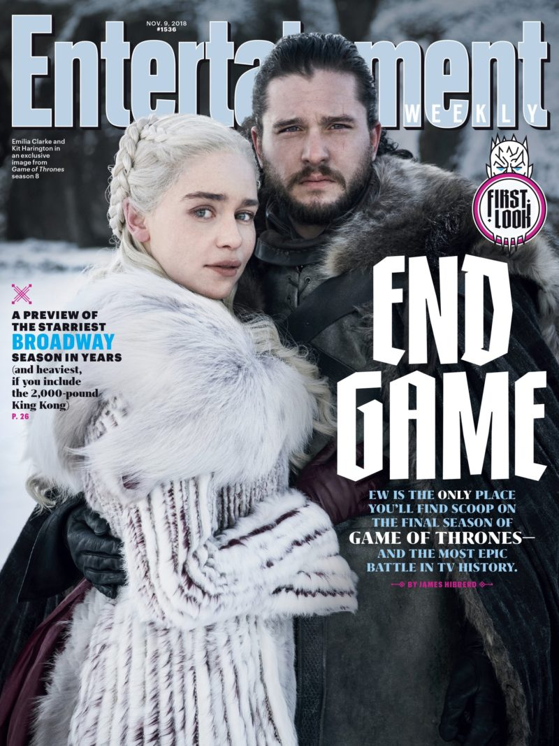 Couverture du numéro spécial Game of Thrones, saison 8, par Entertainment Weekly