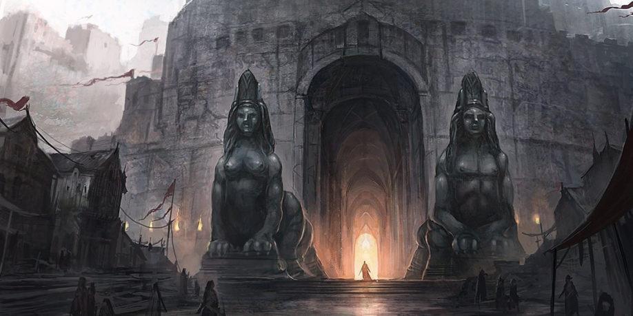 Les Sphinx gardant la Citadelle de Villevieille (crédits : Juan Carlos Barquet)