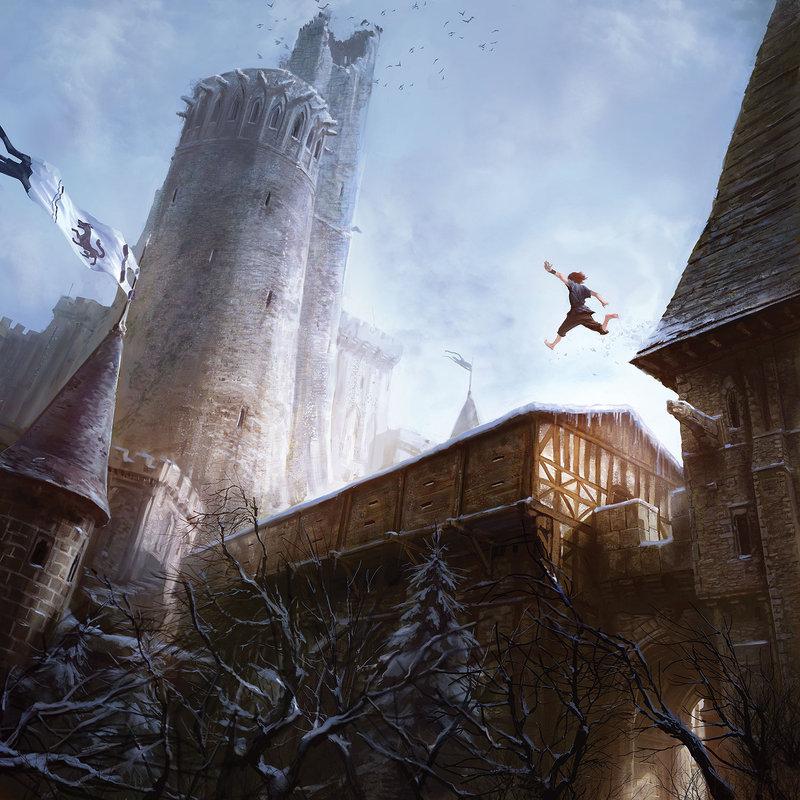 Bran à Winterfell, par Marc Simonetti.