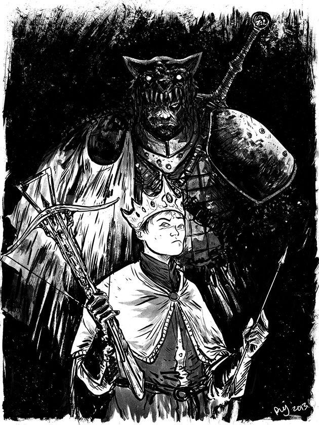 Joffrey et le Limier, par Daniel Johnson.
