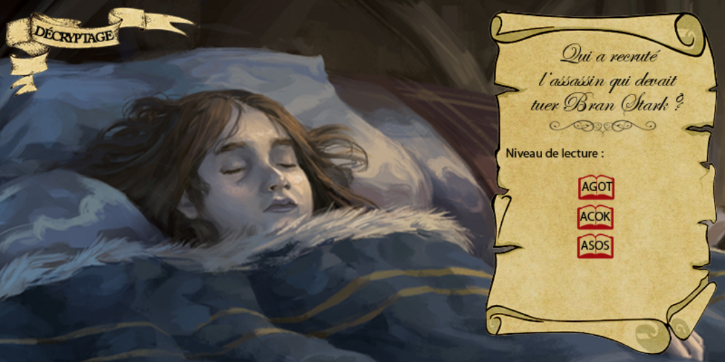 Bran Stark, par Victor Garcia, pour Fantasy Flight Games ; montage Nymphadora