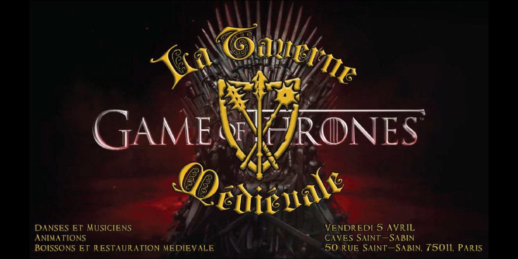 La Garde de Nuit sera aux Caves Saint-Sabin (Paris) pour une soirée Game of Thrones le 5 avril
