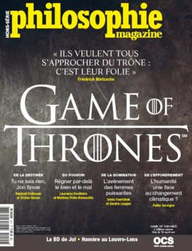 Couverture n° hors-série Philosophie Magazine Game of Thrones avril 2019