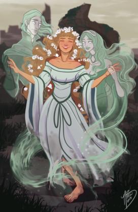 Jenny de Vieilles-pierres et ses fantômes (crédits : Naomi makes art