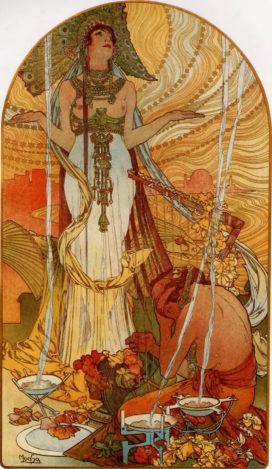 Salammbô, par Alfonso Mucha (1896). WikiCommons.