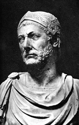 Buste d'Hannibal Barca, général des troupes carthaginoises pendant la deuxième guerre punique (WikiCommons)