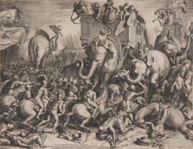 Bataille de Zama, par Cornelis Cort (1567). WikiCommons.