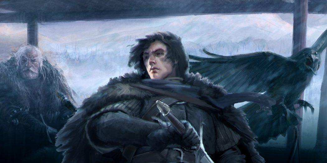 Jon Snow, Jeor Mormont et son corbeau