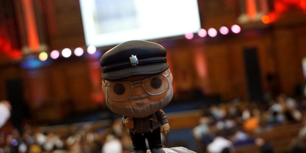 George R.R. Martin (presque !) - Londres (Emmanuel Center), août 2019 (© Photo par La Garde de Nuit)