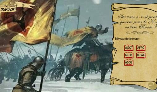 Stannis a-t-il perdu la guerre pour le Nord contre Roose Bolton ?