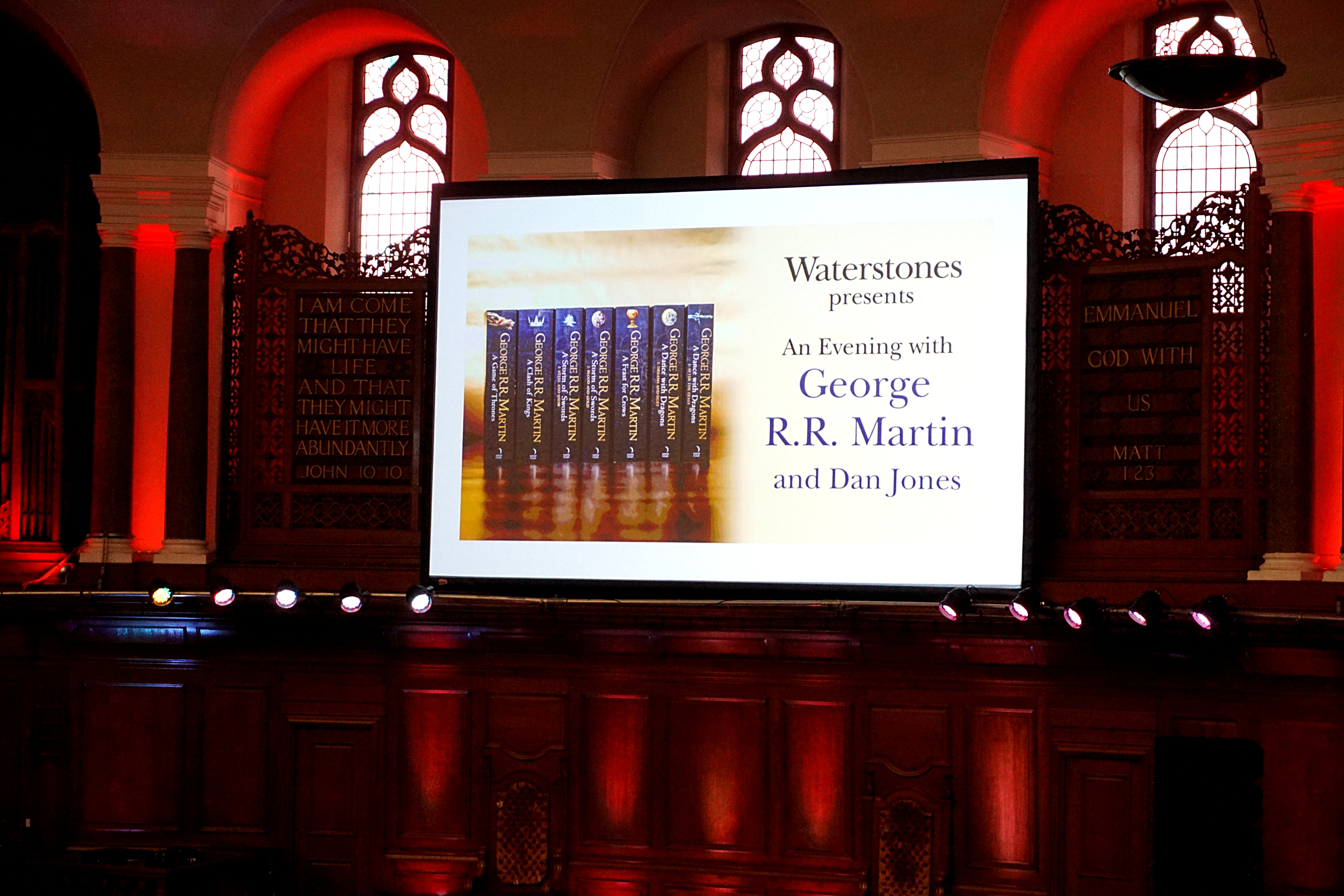 An Evening With George R R Martin In London Actualites