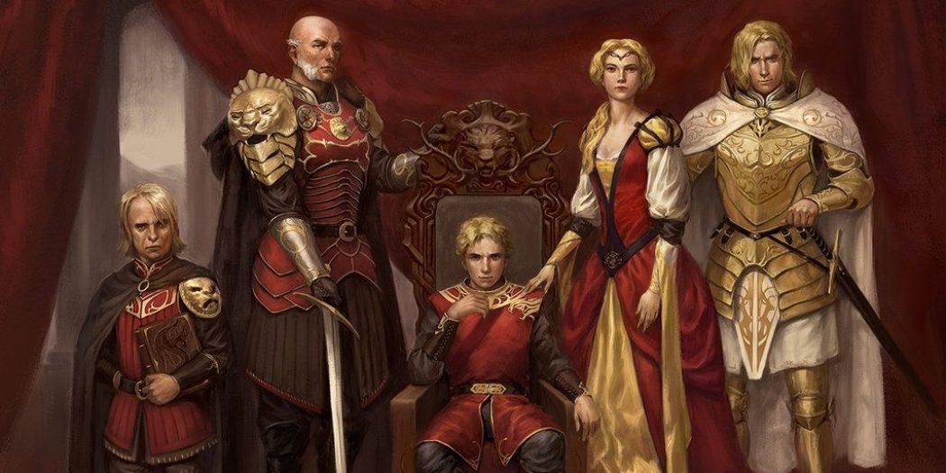 La famille Lannister (Crédits : Giacobino pour Fantasy Flight Games)