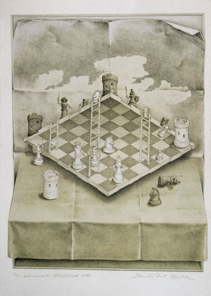 The Warped Chessboard, par Sandro Del Prete