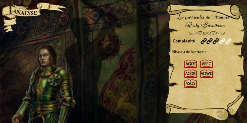 Les parricides de Stannis : Renly Baratheon, le petit frère jalousé