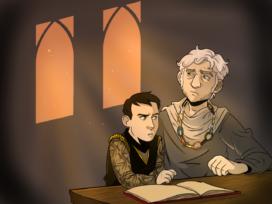 Cressen et le jeune Stannis