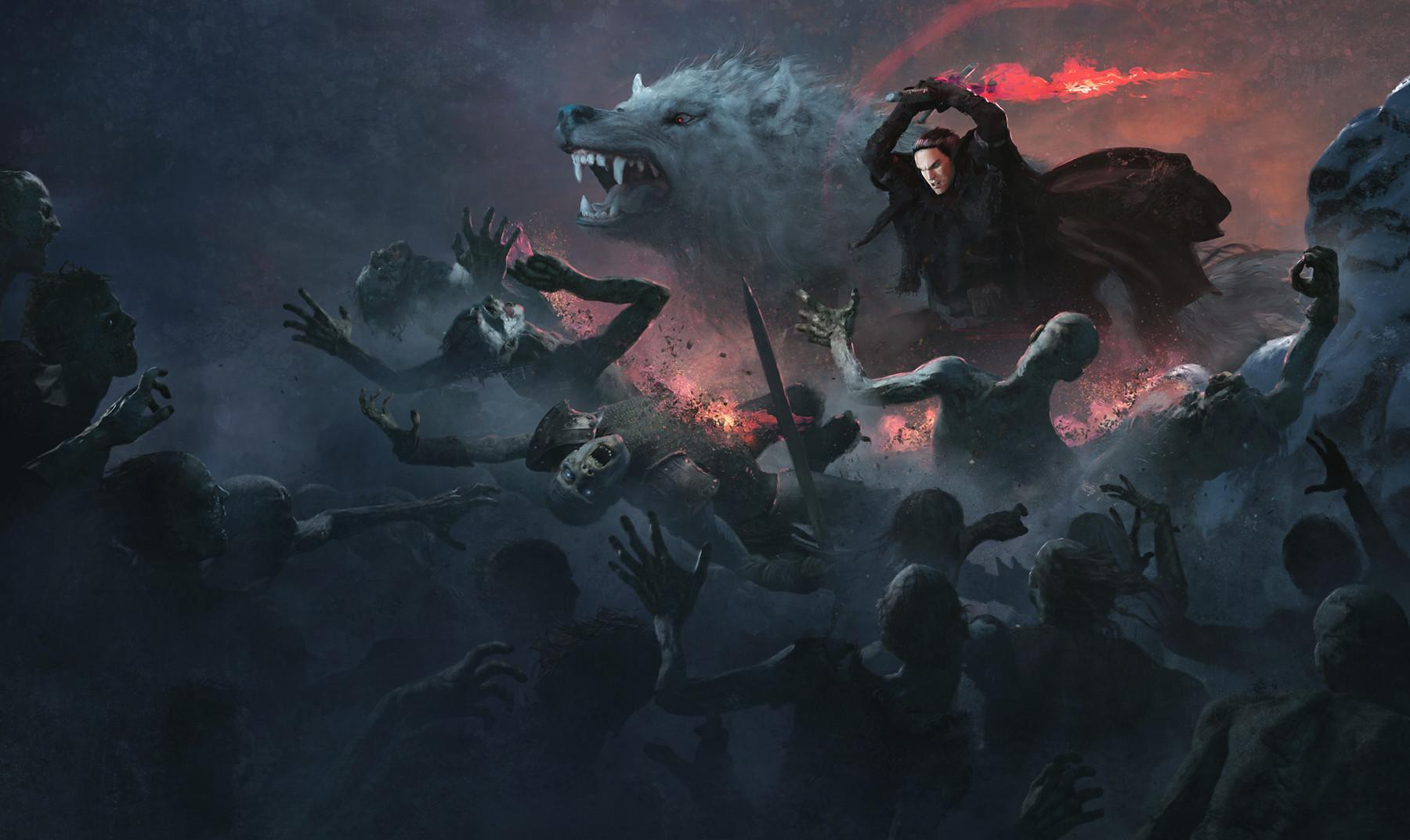 Jon Snow with Azor Ahai Sword (GuillemH. Pongiluppi)