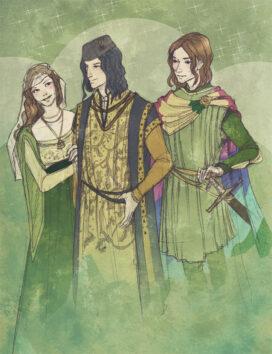 Margaery, Renly et Loras par Martinacecilia