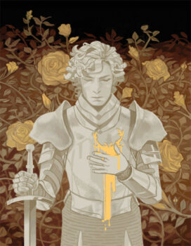 Loras Tyrell, le chevalier des fleurs, par Zephyr Armsworthy