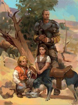 Jolie Cochonne, Croque, Tyrion, Penny, and Ser Jorah par zippo514