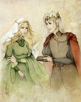 """""""Be our guest"""" (Joanna et Aerys) par Wolverrain"""