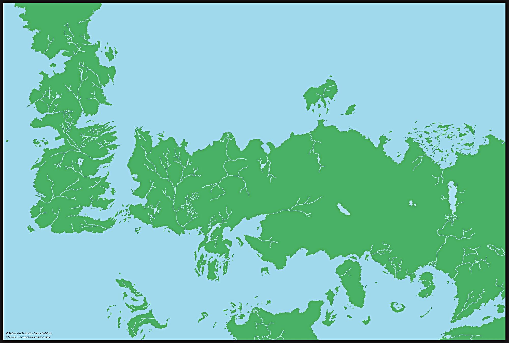 carte trone de fer Carte générale du monde connu — La Garde de Nuit